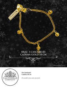 BRAZ. 5 CASCABELES CADENA GOLD 18 CM TALIIISMAN COMPANY® ¡Contáctanos! 01800 2867967 www.facebook.com/taliiisman info@taliiisman.com