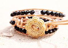 Beaded wrap bracelet - chan Lu inspired  #chan #lu