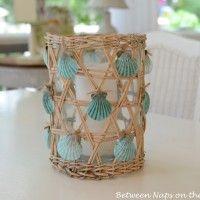 Make a Seashell Candle Holder Centerpiece