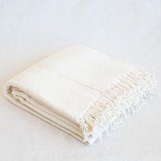 Queen Cotton blanket - Natural