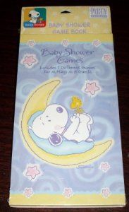 RARE! Hallmark Baby Snoopy Baby Shower Games OOP by Baby Snoopy. $14.99. For as many as 8 guests. Hallmark Baby Shower Game Book. Includes 7 Different Games. Out-of-print BABY SNOOPY collectible. Hallmark BABY SNOOPY Baby Shower Game Book. Includes 7 different games for as many as 8 guests! This out-of-print BABY SNOOPY collectible is very hard-to-find! The cover features BABY SNOOPY and BABY WOODSTOCK playing among the stars and moon.