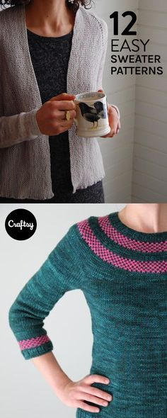 If you're new to sweater knitting, now is a great time to give it a try. These 12 patterns are a fabulous intro to sweaters.