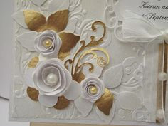 My Crafty Corner: White Wedding Card