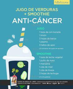 Hábitos Health Coaching | JUGO DE VERDURAS + SMOOTHIE ANTI-CÁNCER