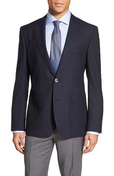 BOSS Trim Fit Wool Blazer available at #Nordstrom