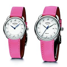 La Montre Hermès sees life in the pink HERMES Arceau Lipstick (See more at:http://watchmobile7.com/articles/hermes-arceau-lipstick) (1/3) #watches #hermes @Holley Roberts Mioneès