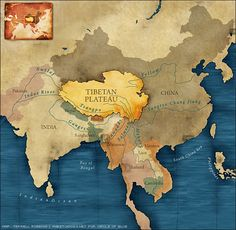 This map seems to include the Qinghai province as part of Tibet