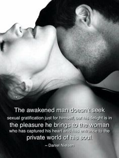 Pleasing you...pleases me!!  If you don't go more than me I'm not happy!  Your pleasure is what makes me happy!