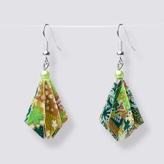 Origami Flower Drop Earrings - HZ348 Dangly Earrings, Drop Earrings, Origami Artist, Origami Flowers, Japanese Paper, Blooming Flowers, Handmade Accessories, Great Gifts, Pearls