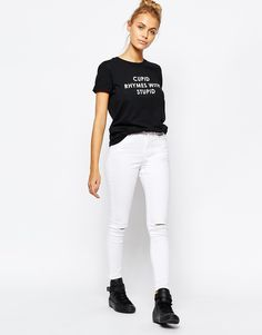 Image 4 ofAdolescent Clothing Boyfriend T-Shirt With Valentine's Stupid Cupid Print