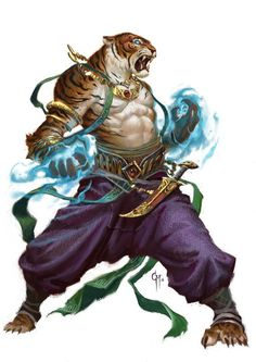 Rakshasa in Dungeons and Dragons are deadly foes. Fantasy Races, Fantasy Warrior, Fantasy Rpg, Fantasy Artwork, Dnd Characters, Fantasy Characters, Character Concept, Character Art, Beast