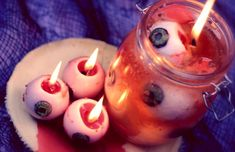 DIY Bleeding Eyeball Candles