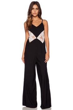 Aila Blue Starry Nights Jumpsuit in Black