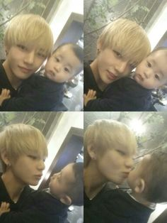 My husband and my eldest son. ㅠ.ㅠ