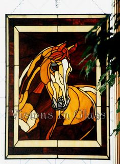 Rick's horse Stained Glass by GlassFancy, via Flickr