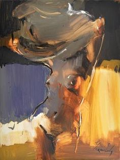 """Saatchi Art Artist Iryna Yermolova; Painting, """"What about this dress? .......flowing, emotional, captivating"""