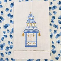 Custom Embroidered Linens and Gifts by BlueBambooEmbroidery Monogram Towels, Personalized Towels, Embroidery Monogram, Monogram Frame, Linen Towels, Guest Towels, Hand Towels, Palm Beach Decor, Blue Willow China
