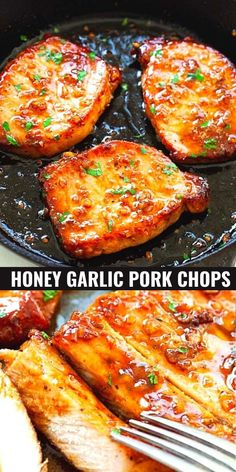 Pork Chop Recipes, Meat Recipes, Chicken Recipes, Cooking Recipes, Healthy Recipes, Roasted Pork Recipes, Tasty Recipes For Dinner, Meat Meals, Healty Dinner