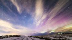Aurora over Eastern Washington