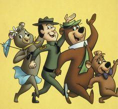 Yogi, Boo Boo, Ranger Rick and Cindy