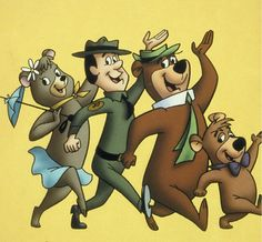 Yogi, Boo Boo, Ranger Rick and Cindy