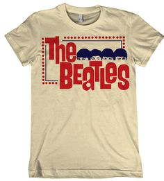 The Beatles - Stare Junior Fitted T-shirt in Beige Beatles Shirt, Les Beatles, Band Shirts, Tee Shirts, Beige T Shirts, Direct To Garment Printer, Vintage Shirts, Cool T Shirts, Printed Shirts