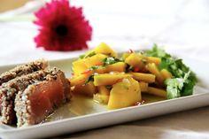 Cómo preparar filete de atún con costra de sésamo Healthy Diet Tips, Paleo Diet, Healthy Eating, Healthy Recipes, Nut Recipes, Almond Recipes, Salad Recipes, Atun Tuny, Thailand Beach