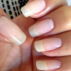 Natural nails that followed all the previous steps.
