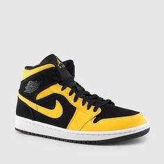 sale retailer ad539 84089 Jordan - Men s Air Jordan 1 Mid (Black   University Gold   Sail   White)