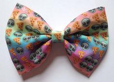 Rainbow Emoji Hair Bow Hairbow Pastel Gradient by EllenJaimie