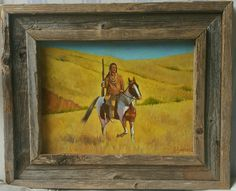 """""""Sioux Patrol"""" oil on board. Copyright 2016 available for purchase. Www.gabesimentalfineart.wix.com/artist"""
