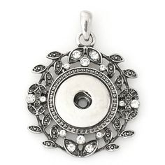 1 Rhinestone Pendant Only - FITS 18MM Candy Snap Charm Jewelry Silver KB0289 CP0060