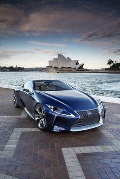 Lexus-LF-LC Blue Concept Coupe,  on Display in Sydney, Australia
