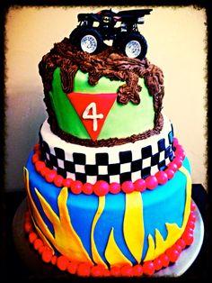 Monster truck cake Fattycakesbakersdozen