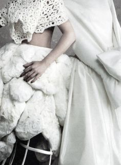 Isabeli Fontana and Guinevere Van Seenus in Comme des Garçons photographed by Daniele + Iango for i-D, Spring 2012