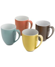 Nambe Pop Collection by Robin Levien 4-Pc. Mug Set