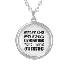 There are two types of sports River Rafting and ot Silver Plated Necklace - jewelry jewellery unique special diy gift present
