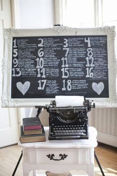 giant chalkboard for seating
