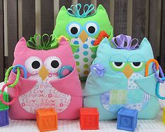 Baby Who Owl Pillow Toy w Pockets Pattern to Make DIY Sewing Suzie Shore Design | eBay