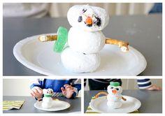 Powder donut snowman.