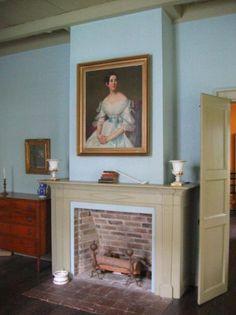 Wedgewood walls and Edgewood Green mantel - Ellen Kennon Full Spectrum Paints