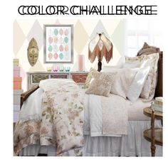 Color challenge - pastels by perpetto on Polyvore featuring interior, interiors, interior design, dom, home decor, interior decorating, Upton Home, Sferra, Cole & Son and PTM Images