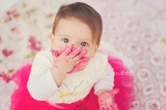 """http://learnshootinspire.com/ """"one a day"""" by BlueBelle Photography by Tina Lane on Facebook! #baby #photography #cakesmash"""