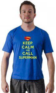Camiseta Superman Keep Calm - Camisetas Personalizadas, Engraçadas e Criativas