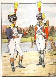 French; 30th Line Infantry, Voltigeur Officer & Voltigeur Cornet, 1809