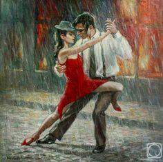 Танго под дождем. Картины художника. Гибет Алиса Артуровна ...
