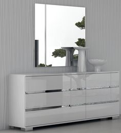 White Bedroom Furniture Sale Contemporary Japanese Room Design Best Funky Bedroom Furniture Decoration High Gloss Dream White Dresser Wall Mirror Frameless Attach On Gray Walls Wardrobe Design, Nice Modern High Gloss Bedroom Furniture Designs: Bedroom, Furniture, Interior