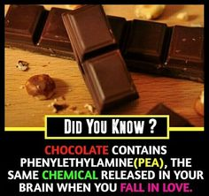 So my love is chocolate 😂