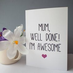 'Mum' Mother's Day Card