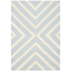 Safavieh Handmade Moroccan Cambridge Light Blue/ Ivory Wool Rug (2'6 x 4') - Overstock™ Shopping - Great Deals on Safavieh Accent Rugs